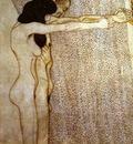 Beethovenfries Die Sehnsucht hach dem Gluck, Kniedes Ehapaar aus den Laiden der schwachen Menschhei