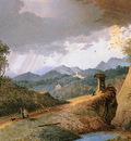 Knip Mattheus Mountainous landscape Sun