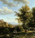 Koekkoek Barend C Landscape with resting farmers Sun