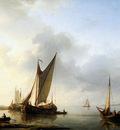 Koekkoek Hermanus Ships for the coast Sun