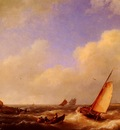 Koekkoek Hermanus The Scheldt River At Flessinghe