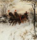 Koekkoek Hermanus Willem Behind the sledge Sun
