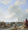 Koekkoek Johannes Hermanus The Scheldes mouth Sun