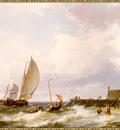 Koekkoek Rough Seas off the Dutch Coast sj
