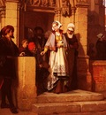 Koller Wilhelm Faust And Memphistopheles Waiting For Gretchen At The Cathedral Door
