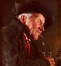 Kronberger Carl A Portrait Of A Man In A Tavern