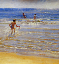 Kroyer Peder Severin Swimming children Sun