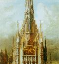 makart hans gotische grabkirche st michael turmfassade