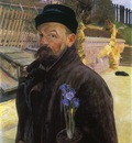 selfportrait with hyacinth