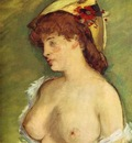 Edouard Manet Blonde with Bare Breasts