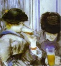 Edouard Manet Two Women Drinking Bocks