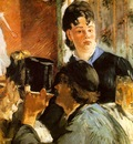 Manet La serveuse de bocks, 1879, 77 5x65 cm, Musee dOrsay,