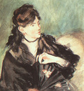 Manet Portrait of Berthe Morisot, 1873, watercolor on paper,