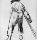 Manet Eduard Sketch of mowing farmer Sun