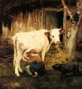 Marais Adolphe Charles The Milkmaid