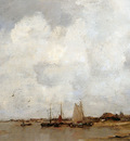 Maris Jacob Fisher ships on a river Sun