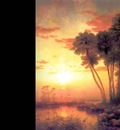 sunset on st johns river george mccord 1878 fl art csg001