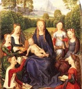 MEMLING MYSTICAL MARRIAGE OF ST CATHERINE OF ALEXANDRIA, LOU