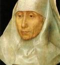 Memling Portrait of an Old Woman, 1468 1470, 25 6x17 7 cm