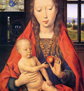 Memlings Hans Holy virgin and child Sun