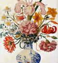 Merian Maria Sibylla Flower still life in Chinese vase Sun