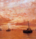 Mesdag Hendrik Willem Calm Sea Sun