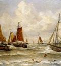 Mesdag Hendrik Willem Fishing Fleet At Scheveningen Sun