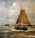 Mesdag Hendrik Willem Incoming Ships Sun