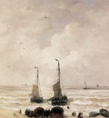 Mesdag Hendrik Willem Loading Of The Nets Sun