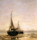 Mesdag Hendrik Willem Pinks On The Beach Sun