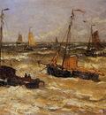 Mesdag Hendrik Willem Ships For Anchor Sun