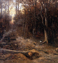 Mesdag Hendrik Willem Woodcutters Sun