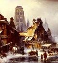 Meyerheim Paul Wilhelm A View Of Danzig In Winter