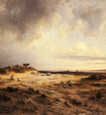 Michel Georges An Extensive Landscape With A Stormy Sky