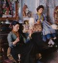 Venetian Women Spinning Wool