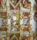 Michelangelo Partial view of the the frescoes in the Sisine Chapel