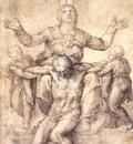 Michelangelo Study for the Colonna Pieta