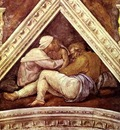 Michelangelo The Ancestors of Christ; Josias, Jechonias and Salathiel