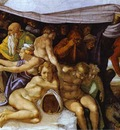 Michelangelo The Flood detail