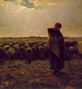 Shepherdess with Her Flock ATC