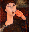 Modigliani Adrienne Woman with Bangs , 1917, NG Washington