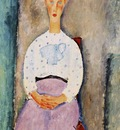 Modigliani Girl with Polka Dot Blouse, 1919, Barnes foundati