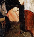 Modigliani Portrait of Beatrice Hastings, 1916, Barnes found