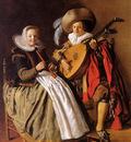 Molenaer Jan Miense Music making couple Sun