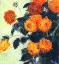 Claude Monet Dahlias