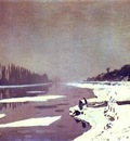 Claude Monet Ice on the Seine near Bougival
