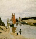 Monet Breakwater at Trouville, Low Tide