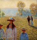 Monet Claude Landscape Giverny Sun