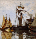 Monet Claude Pont of Honfleur Sun