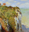 Monet Claude Steep cliffs at Dieppe Sun